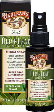Olive Leaf Complex Throat Spray, 1.5 fl oz (Barleans)