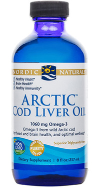 Arctic Cod Liver Oil™ Liquid - Lemon 8 fl oz / 237 ml (Nordic Naturals)