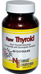 Raw Thyroid Complex, 60 capsules (Natural Sources)