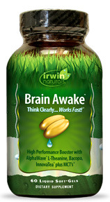 Brain Awake, 60 liquid softgels (Irwin Naturals)