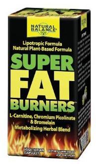 Super Fat Burners, 60 vegetarian capsules (Natural Balance)
