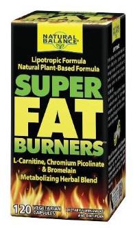 Super Fat Burners, 120 vegetarian capsules (Natural Balance)