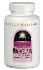 Bromelain Pineapple Enzyme (600 GDU) - 500 mg, 120 tablets (Source Naturals)