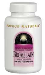 Bromelain Pineapple Enzyme (2,000 GDU) - 500 mg, 60 tablets (Source Naturals)