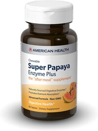 Super Papaya Enzyme Plus - Sugar Free, 90 tablets (American Health)