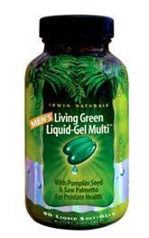 Men's Living Green Liquid-Gel Multi, 90 liquid soft gels (Irwin Naturals)