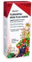 Floravital Iron and Herbs Yeast-Free Liquid, 8.5 fl oz / 250 ml (Flora)