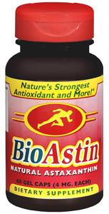 Astaxanthin, BioAstin Hawaiian  - 4 mg, 60 gelcaps (Nutrex Hawaii Inc.)