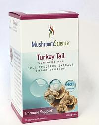 Coriolus Mushroom Extract PSP - 400 mg, 90 vegetarian capsules (Mushroom Science)