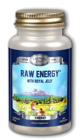 Raw Energy with Royal Jelly,  60 capsules (Premier One)