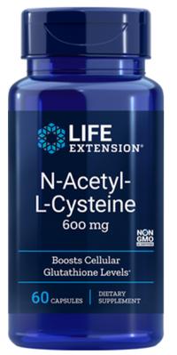 N-Acetyl-L-Cysteine (NAC) - 600 mg, 60 vegetarian capsules (Life Extension)