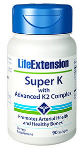 Vitamin K - Super K with Advanced K2 Complex, 90 softgels (Life Extension)