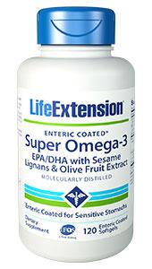 CLEARANCE SALE: Super Omega-3 EPA/DHA, 120 enteric coated softgels (Life Extension)