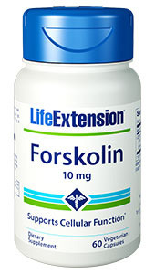 Forskolin - 10 mg, 60 vegetarian capsules (Life Extension)