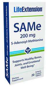 SAMe - 200 mg, 20 enteric coated tablets (Life Extension)
