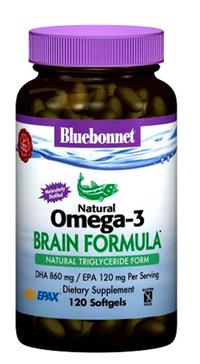 Natural Omega-3 Brain Formula, 60 softgels (Bluebonnet)