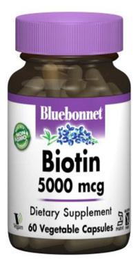 Biotin - 5000 mcg, 60 Veg Capsules (Bluebonnet)