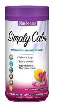 Simply Calm® - Raspberry Lemon, 16 oz / 454g (Blue Bonnet)