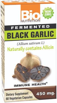 Fermented Black Garlic - 450 mg, 60 vegetarian capsules (Bio Nutrition)