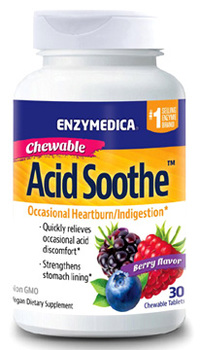 Acid Soothe - Berry Flavor, 30 chewable tablets (Enzymedica)