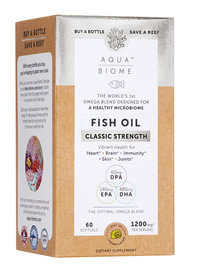 Aqua Biome™ Fish Oil Classic Strength, 60 softgels (Enzymedica)