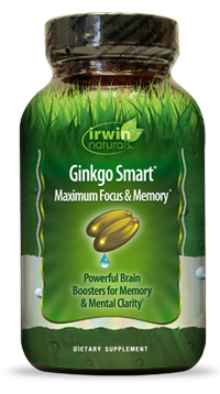 Ginkgo Smart, 120 liquid soft gels - Value Size! (Irwin Naturals)
