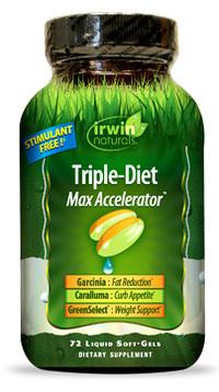 Triple Diet Max Accelerator 72 liquid soft gels (Irwin Naturals)