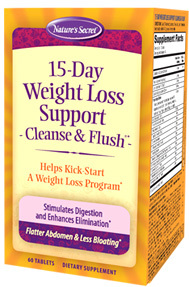 15-Day Weight Loss Support Cleanse & Flush® 60 tablets (Nature's Secret)