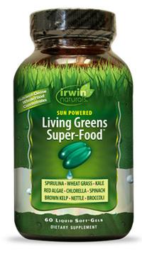 Living Greens Super-Food, 60 liquid soft gels (Irwin Naturals)