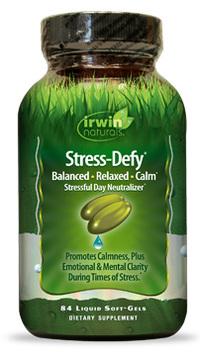 CLEARANCE SALE: Stress-Defy®,  84 liquid soft gels (Irwin Naturals)