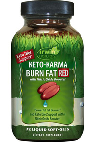 Keto-Karma Burn Fat Red, 72 liquid softgels (Irwin Naturals)