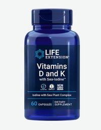 Vitamins D and K with Sea-Iodine™, 60 capsules (Life Extension)