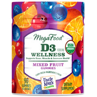 D3 Wellness, 90 mixed fruit gummies (Mega Food)