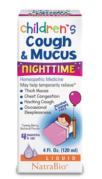 Children Cough & Mucus Nighttime, 4 fl oz (Natra Bio)