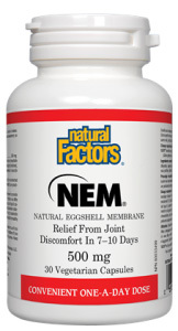 NEM® Natural Eggshell Membrane, 30 vegetarian capsules (Natural Factors)