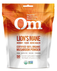 Lion's Mane Powder, 100 grams/ 3.5 oz (Organic Mushroom Nutrition)