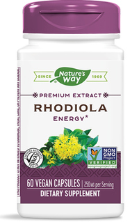 Rhodiola Standardized Extract Capsules - 250 mg, 60 veg capsules (Nature's Way)