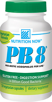 PB8™ Acidophilus Probiotics - 14 Billion CFU 120 vegetarian capsules (Nutrition Now)