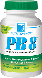 PB8™ Probiotics - 14 Billion CFU 60 vegetarian capsules (Nutrition Now)