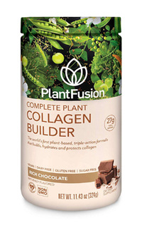 Complete Plant Collagen Builder Chocolate, 11.43oz/324g (PlantFusion)