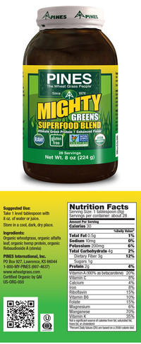 Mighty Greens® Superfood Blend, 8 oz (Pines)