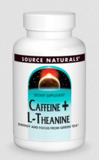 Caffeine + L-Theanine, 60 tablets (Source Naturals)