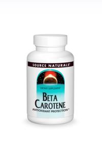 Beta Carotene - 25000 IU, 250 softgels (Source Naturals)