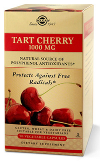 Tart Cherry - 1000 mg, 90 vegetable capsules (Solgar®)