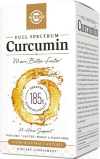 Full Spectrum Curcumin, 60 liquid extract softgels (Solgar®)