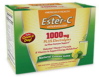 Ester-C® 1000 mg Effervescent Powder - Lemon Lime, 21 packets (American Health)