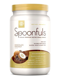 Spoonfuls Vegan Protein Powder - Chocolate Coconut,  20.74 oz (Solgar)