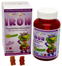 Iron Gummy Bears - 15 mg, 60 vegetarian gummies (Vitamin Friends)