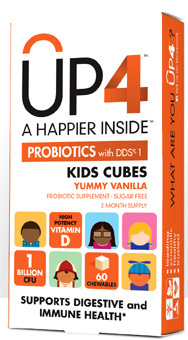 CLEARANCE SALE: UP4 Kids Cubes Probiotics -1 Billion CFU 60 chewables (UAS Labs)