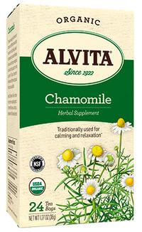 Chamomile Tea Bags - Organic, 24 tea bags (Alvita)